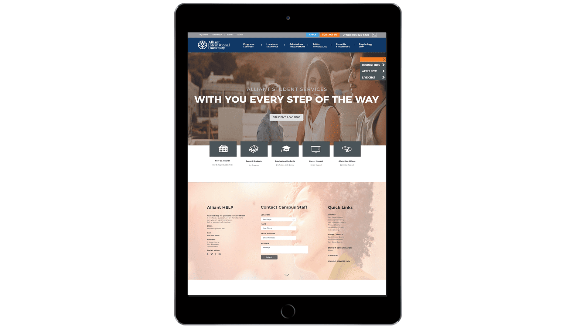 Website Redesign for Alliant International University