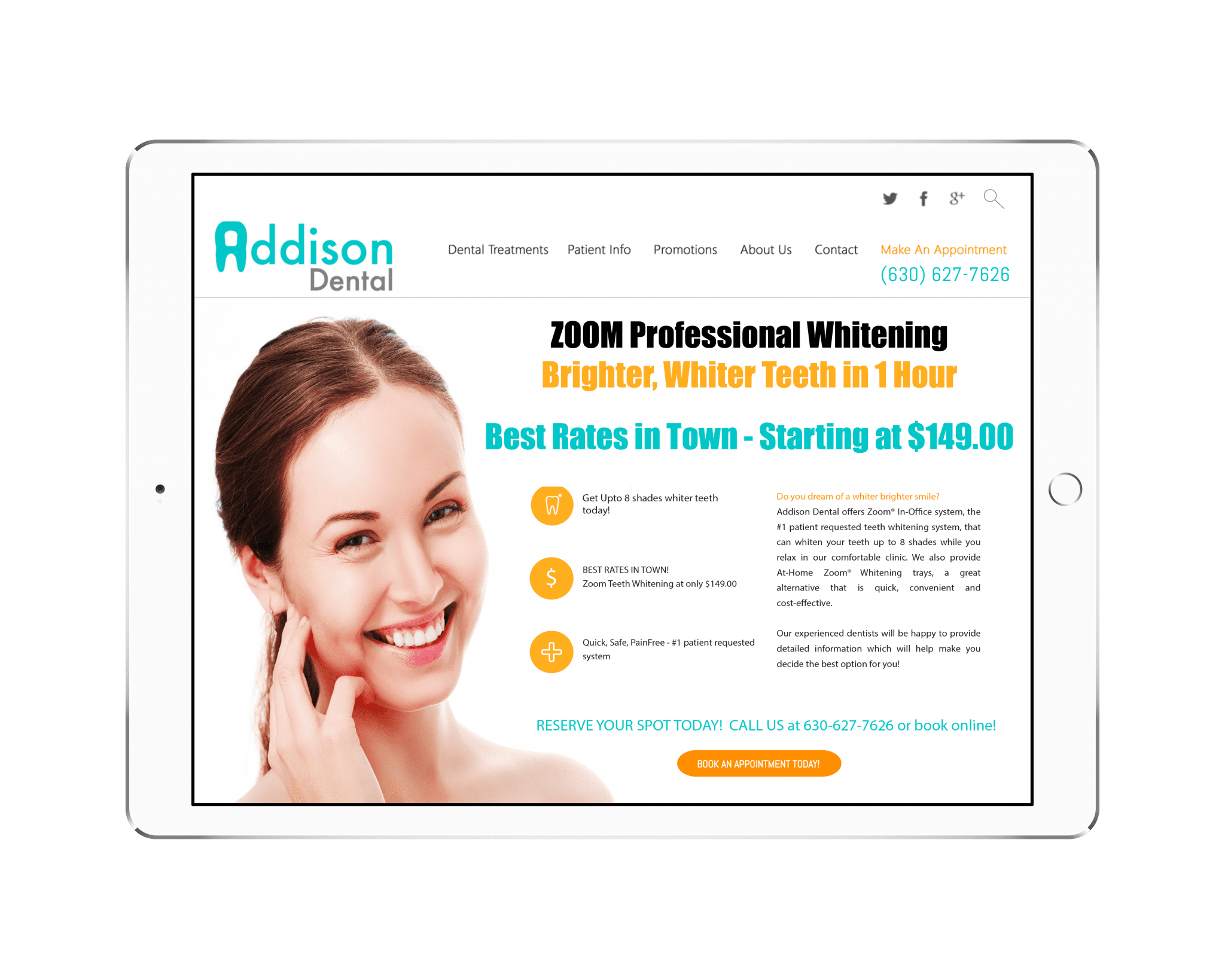 Dental Promotions Landing Pages