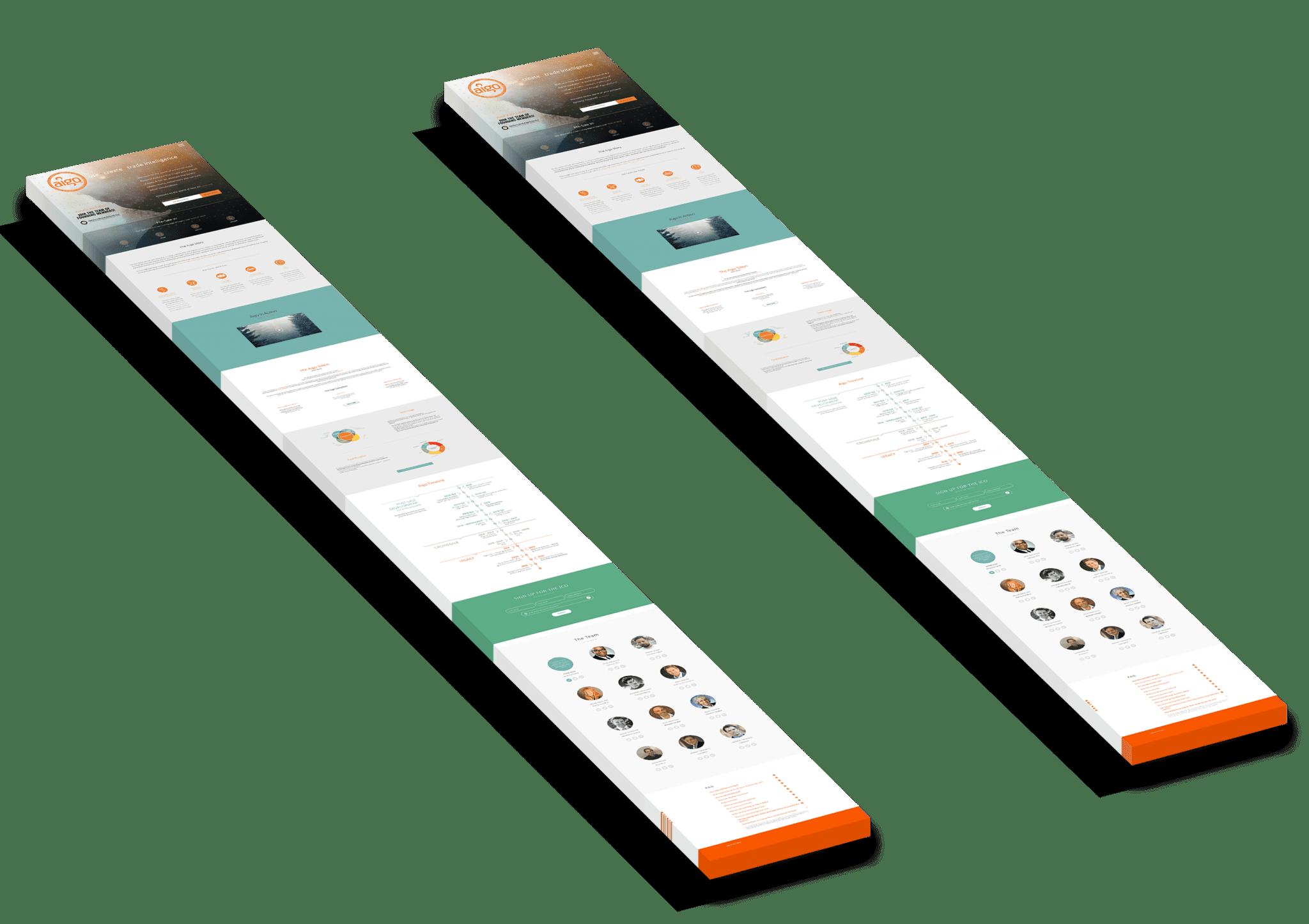 Aigo ICO Token Website Design