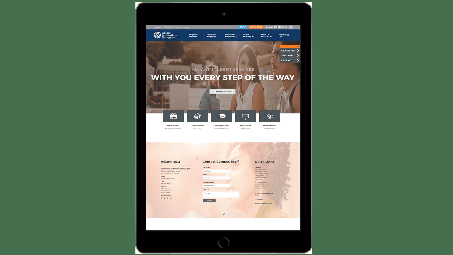 Website Redesign for Alliant International University